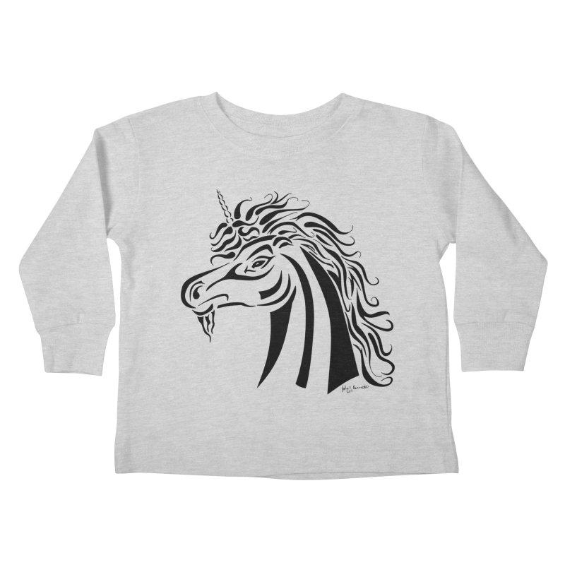 Unicorn Tribal Kids Toddler Longsleeve T-Shirt by Magickal Vision: The Art of Jolie E. Bonnette
