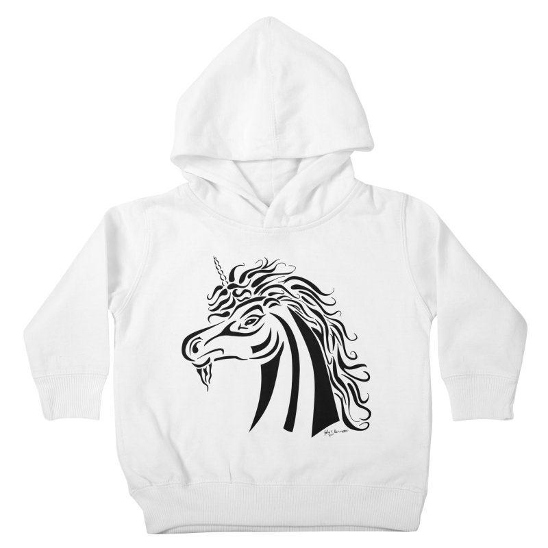 Unicorn Tribal Kids Toddler Pullover Hoody by Magickal Vision: The Art of Jolie E. Bonnette
