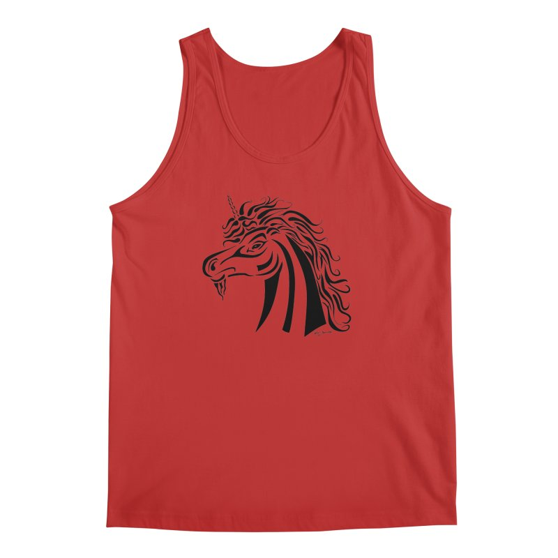 Unicorn Tribal Men's Regular Tank by Magickal Vision: The Art of Jolie E. Bonnette