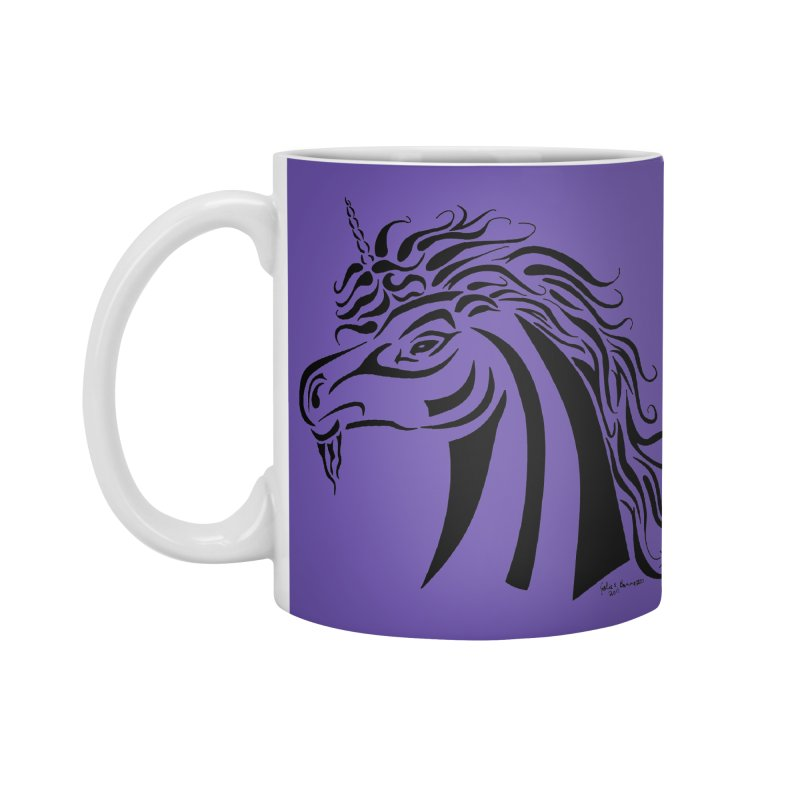 Unicorn Tribal Accessories Standard Mug by Magickal Vision: The Art of Jolie E. Bonnette