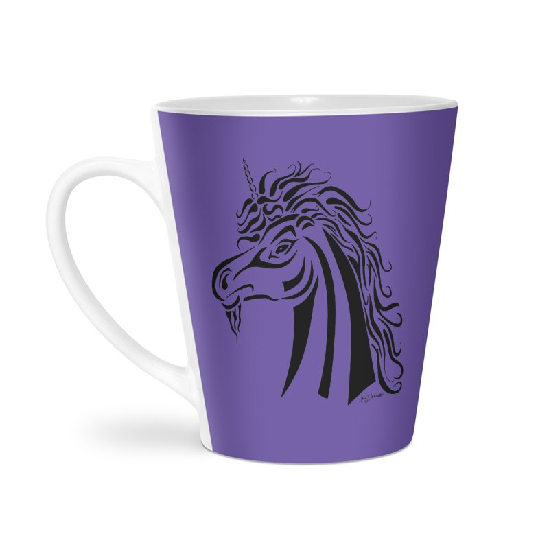 Unicorn Tribal Accessories Latte Mug by Magickal Vision: The Art of Jolie E. Bonnette