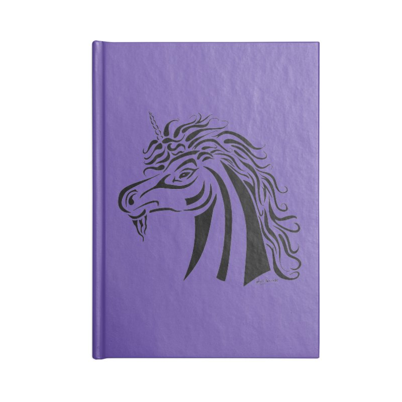 Unicorn Tribal Accessories Lined Journal Notebook by Magickal Vision: The Art of Jolie E. Bonnette