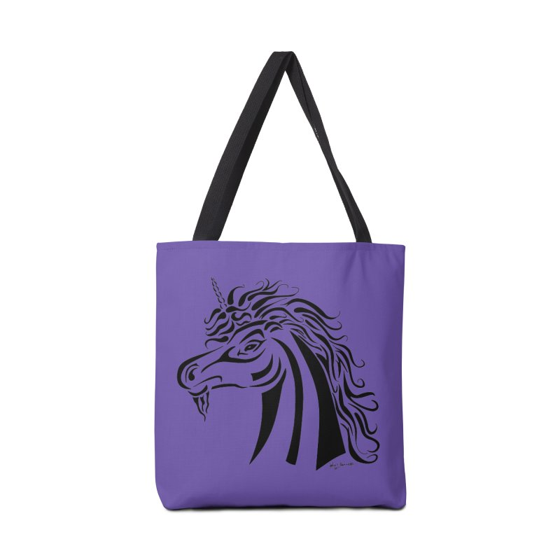 Unicorn Tribal Accessories Bag by Magickal Vision: The Art of Jolie E. Bonnette
