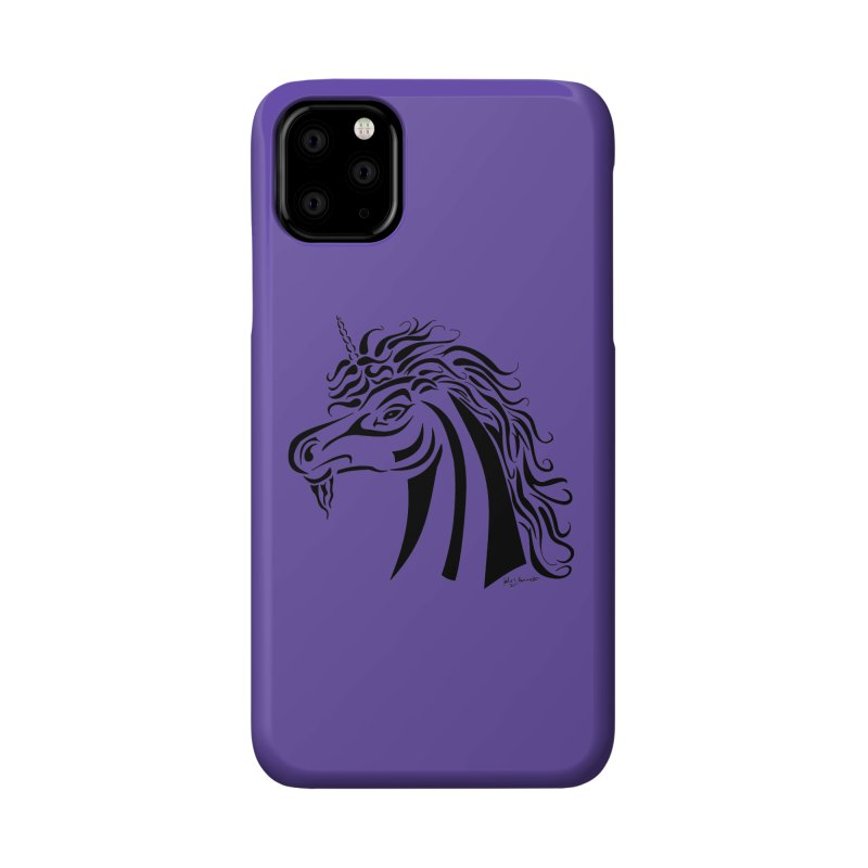 Unicorn Tribal Accessories Phone Case by Magickal Vision: The Art of Jolie E. Bonnette