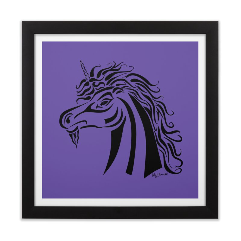 Unicorn Tribal Home Framed Fine Art Print by Magickal Vision: The Art of Jolie E. Bonnette