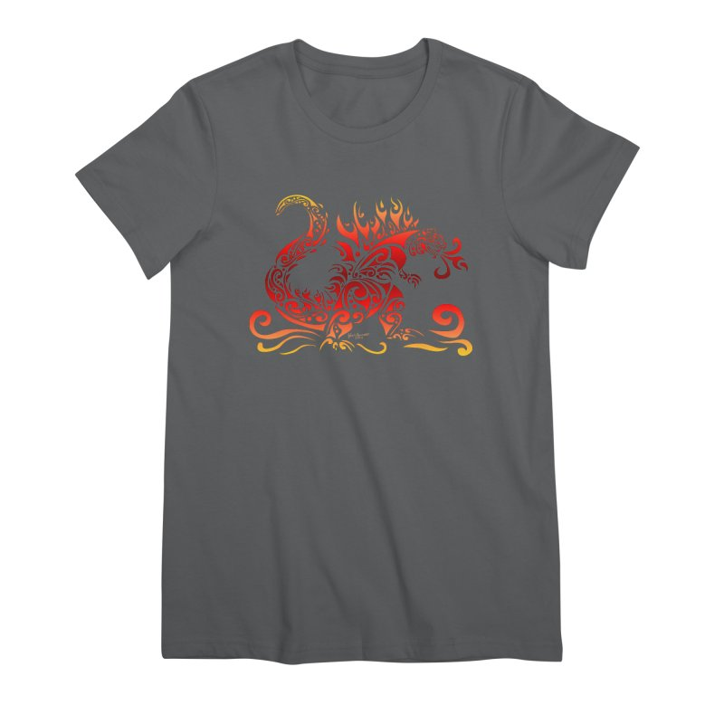 Trybe-Zilla Fire Women's T-Shirt by Magickal Vision: The Art of Jolie E. Bonnette