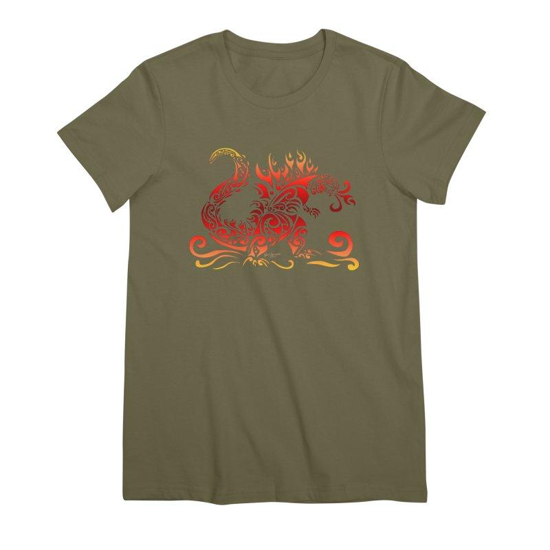 Trybe-Zilla Fire Women's Premium T-Shirt by Magickal Vision: The Art of Jolie E. Bonnette