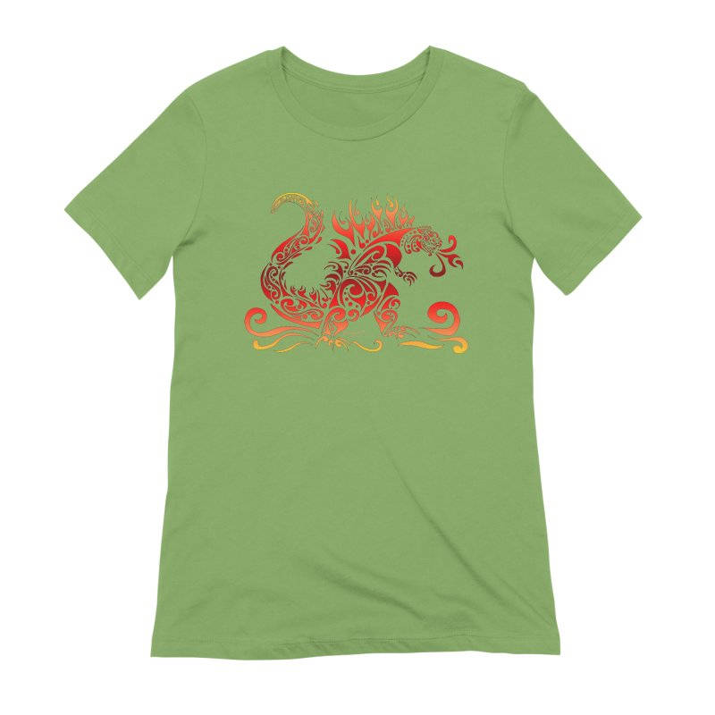 Trybe-Zilla Fire Women's Extra Soft T-Shirt by Magickal Vision: The Art of Jolie E. Bonnette
