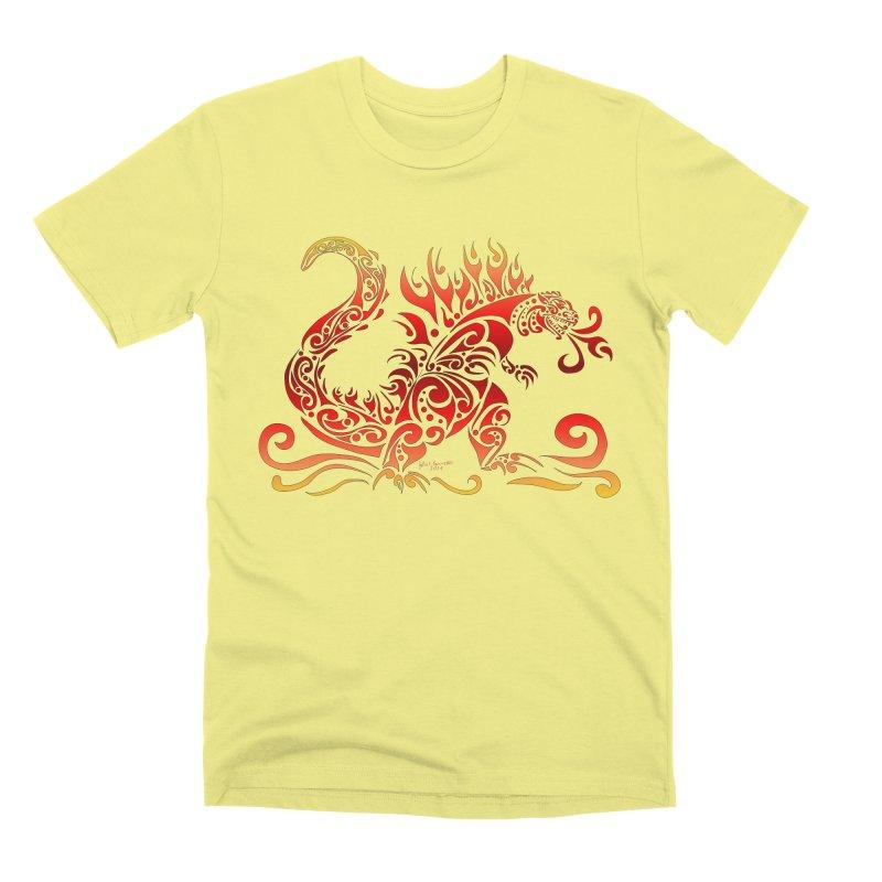 Trybe-Zilla Fire Men's Premium T-Shirt by Magickal Vision: The Art of Jolie E. Bonnette