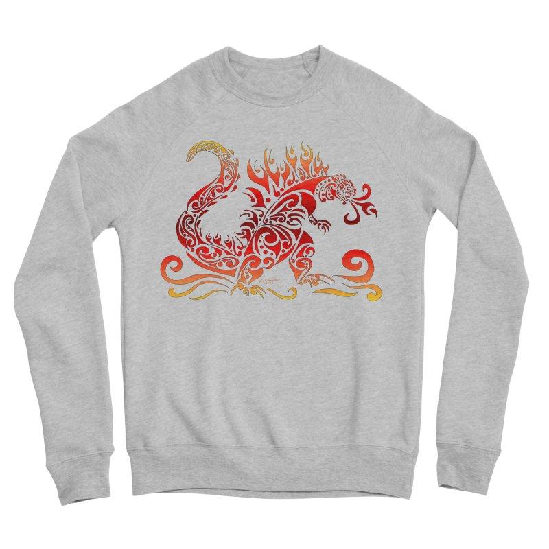 Trybe-Zilla Fire Men's Sponge Fleece Sweatshirt by Magickal Vision: The Art of Jolie E. Bonnette