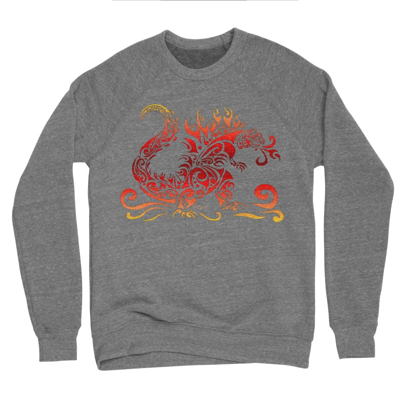 Trybe-Zilla Fire Men's Sponge Fleece Sweatshirt by Magickal Vision: The Art of Jolie E. Bonnette