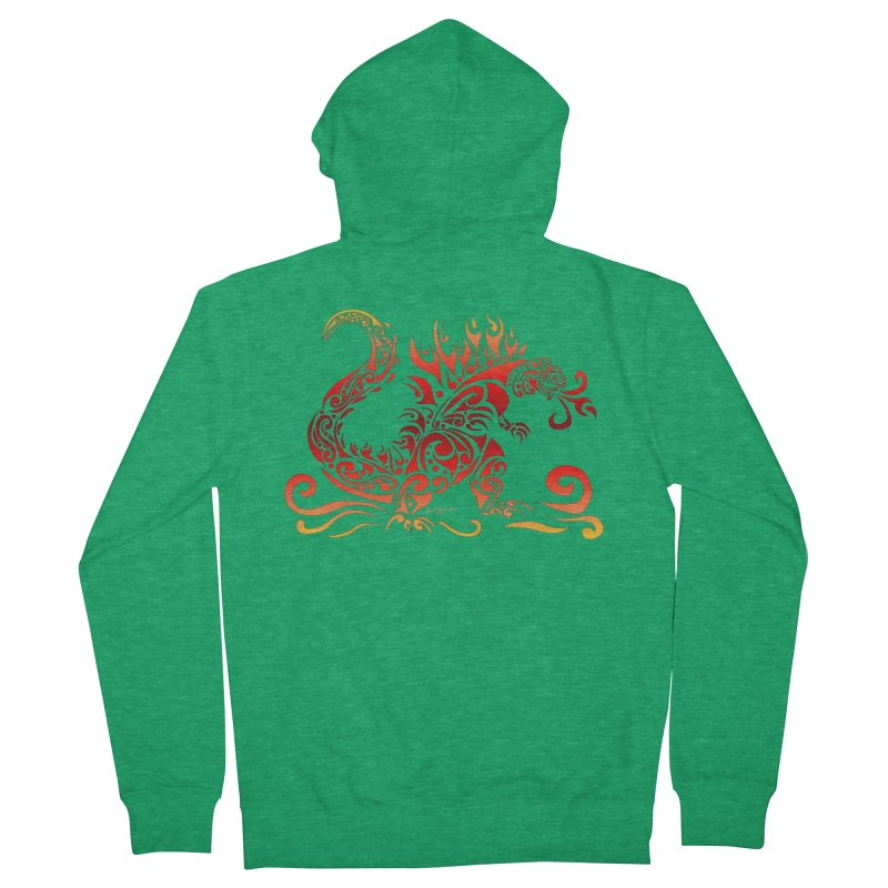 Trybe-Zilla Fire Women's Zip-Up Hoody by Magickal Vision: The Art of Jolie E. Bonnette