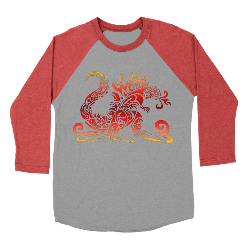 Trybe-Zilla Fire Men's Longsleeve T-Shirt by Magickal Vision: The Art of Jolie E. Bonnette