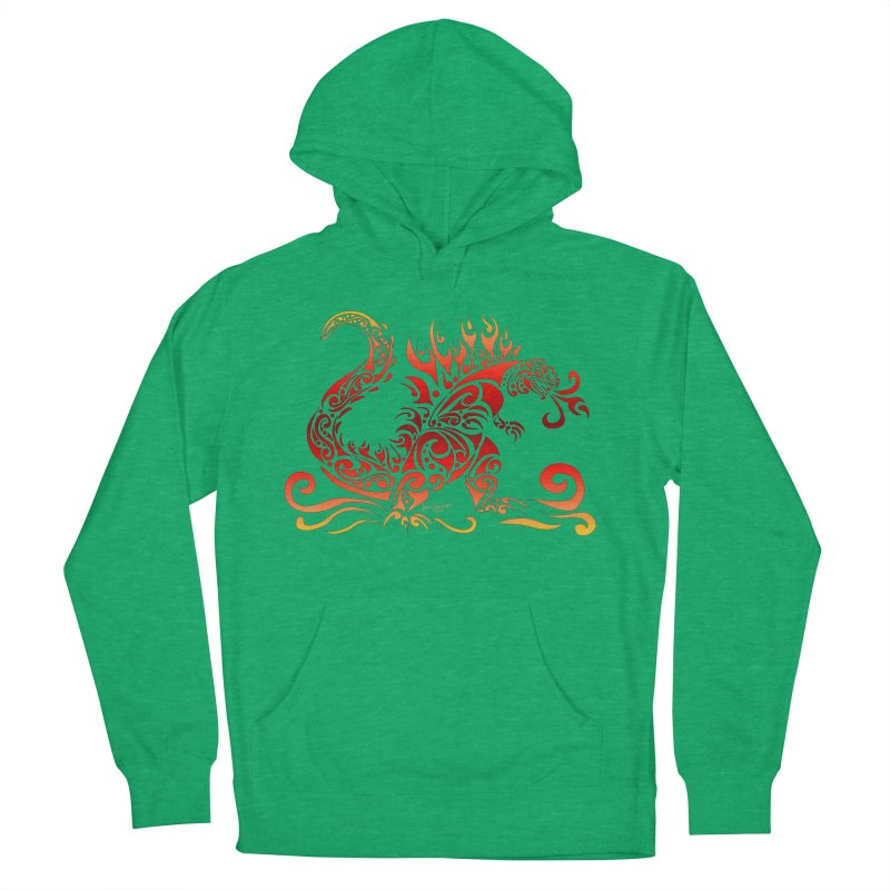 Trybe-Zilla Fire Women's French Terry Pullover Hoody by Magickal Vision: The Art of Jolie E. Bonnette