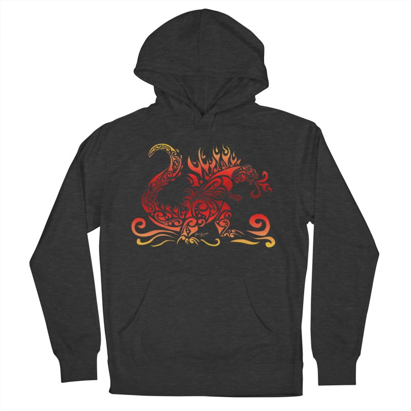 Trybe-Zilla Fire Women's Pullover Hoody by Magickal Vision: The Art of Jolie E. Bonnette