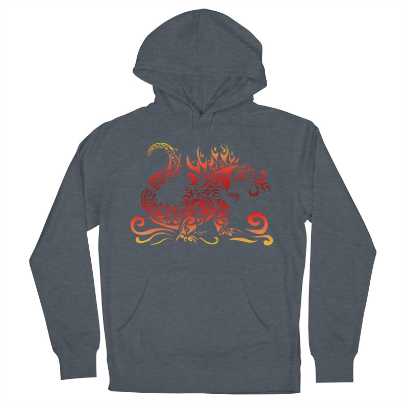 Trybe-Zilla Fire Men's French Terry Pullover Hoody by Magickal Vision: The Art of Jolie E. Bonnette
