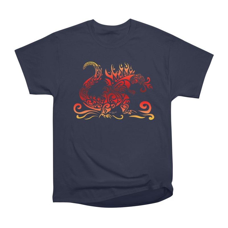 Trybe-Zilla Fire Women's Heavyweight Unisex T-Shirt by Magickal Vision: The Art of Jolie E. Bonnette
