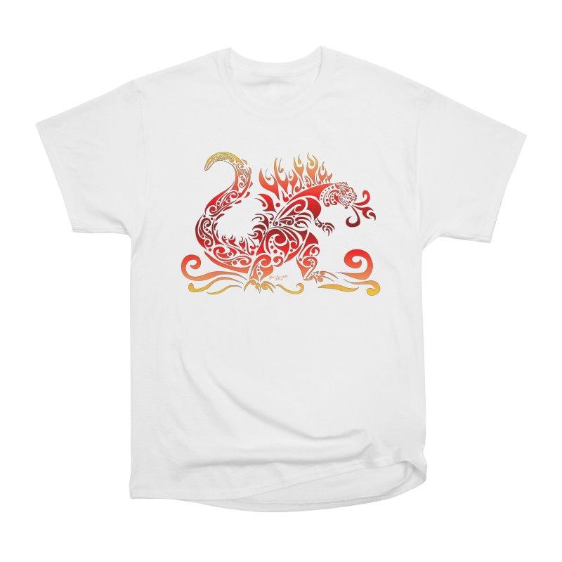 Trybe-Zilla Fire Men's Heavyweight T-Shirt by Magickal Vision: The Art of Jolie E. Bonnette
