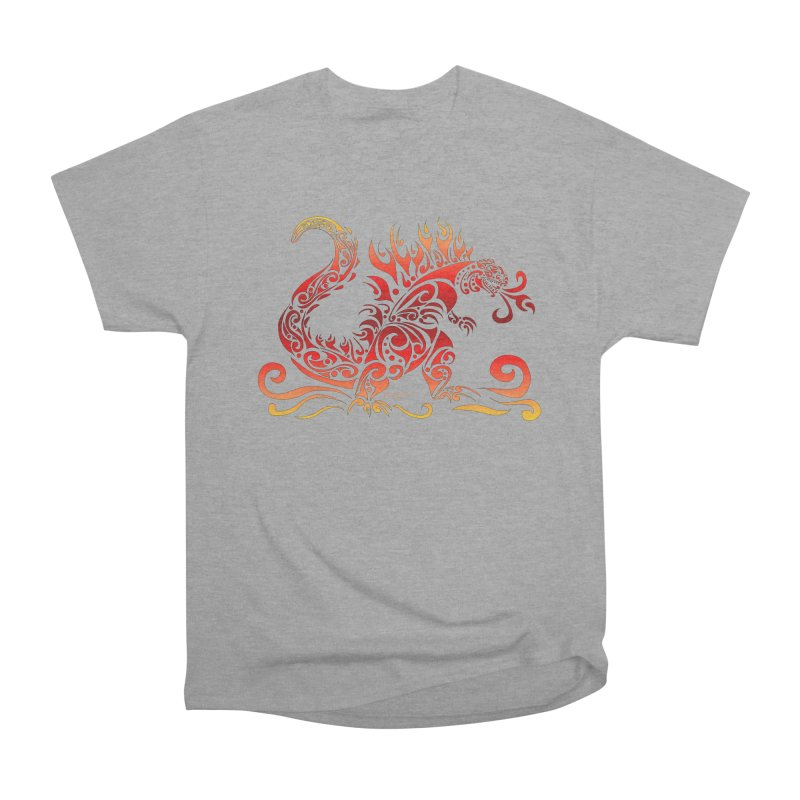 Trybe-Zilla Fire Women's Heavyweight Unisex T-Shirt by Magickal Vision: The Art of Jolie E. Bonnette