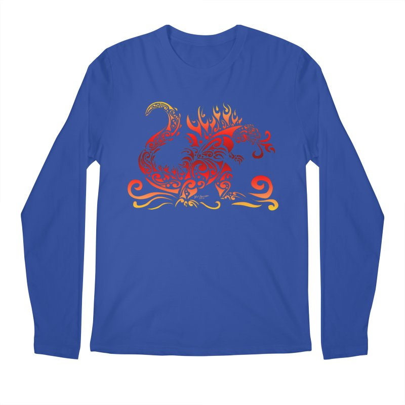 Trybe-Zilla Fire Men's Regular Longsleeve T-Shirt by Magickal Vision: The Art of Jolie E. Bonnette