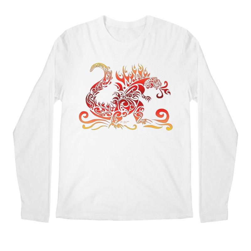 Trybe-Zilla Fire Men's Regular Longsleeve T-Shirt by Magickal Vision: The Art of Jolie E. Bonnette