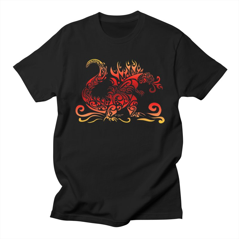 Trybe-Zilla Fire Men's T-Shirt by Magickal Vision: The Art of Jolie E. Bonnette