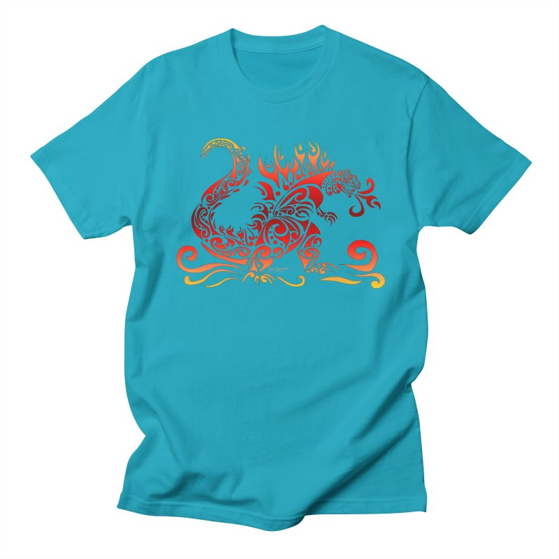Trybe-Zilla Fire Men's T-shirt by Magickal Vision: The Art of Jolie E. Bonnette