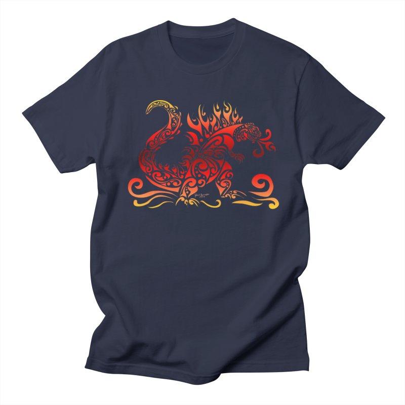 Trybe-Zilla Fire Men's Regular T-Shirt by Magickal Vision: The Art of Jolie E. Bonnette