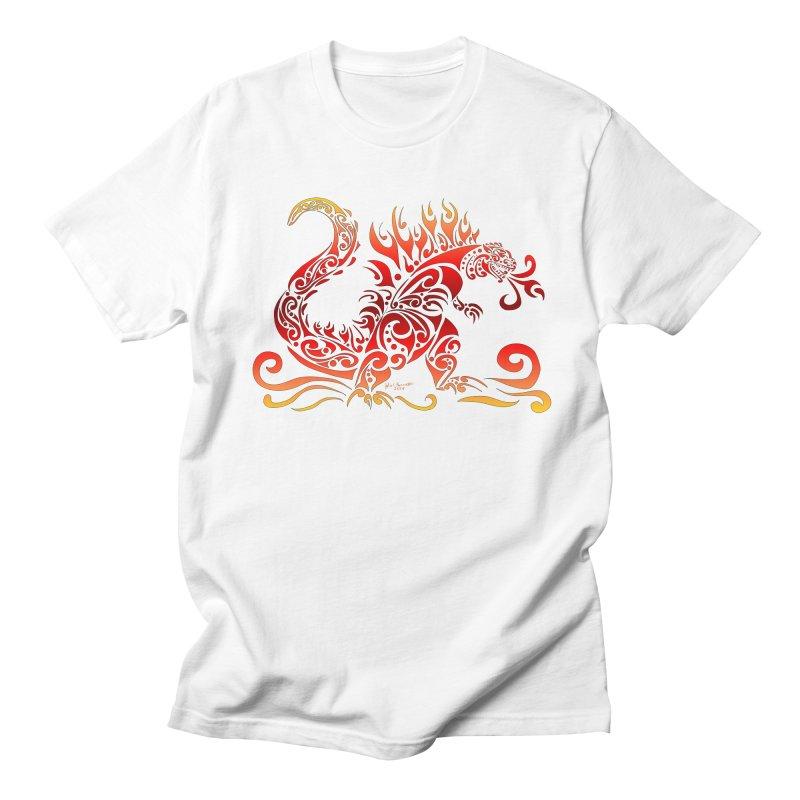 Trybe-Zilla Fire Women's Regular Unisex T-Shirt by Magickal Vision: The Art of Jolie E. Bonnette