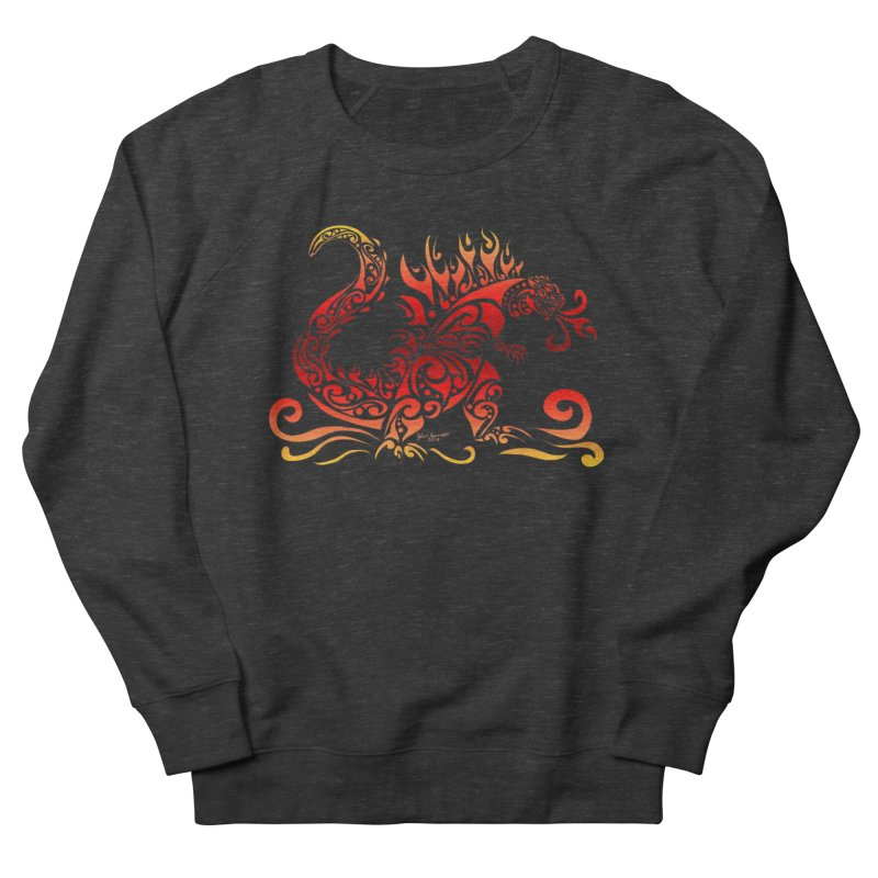 Trybe-Zilla Fire Women's French Terry Sweatshirt by Magickal Vision: The Art of Jolie E. Bonnette