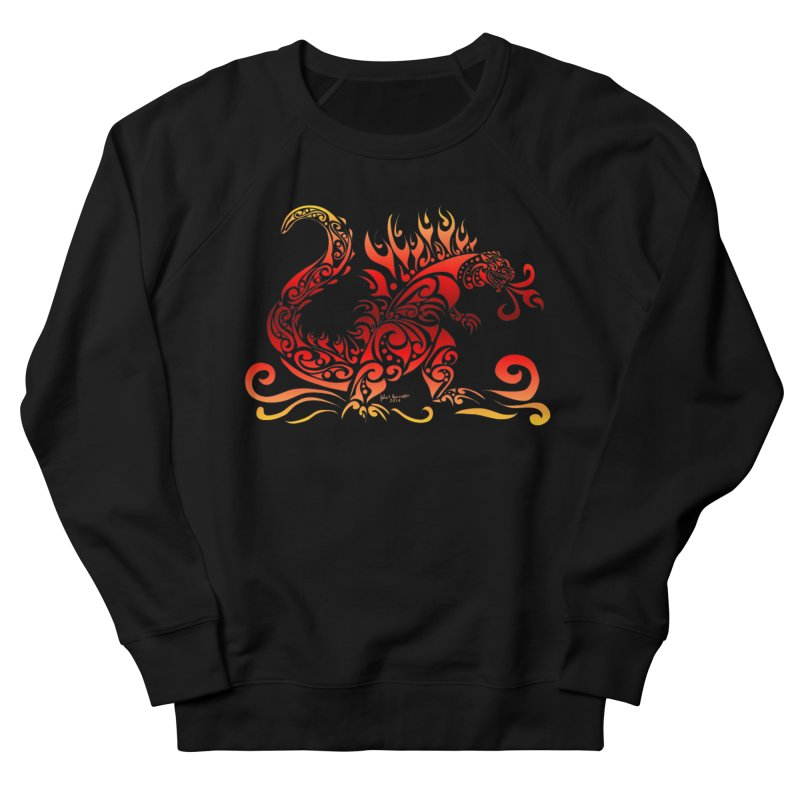 Trybe-Zilla Fire Men's French Terry Sweatshirt by Magickal Vision: The Art of Jolie E. Bonnette