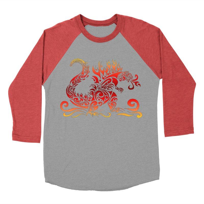 Trybe-Zilla Fire Women's Baseball Triblend T-Shirt by Magickal Vision: The Art of Jolie E. Bonnette