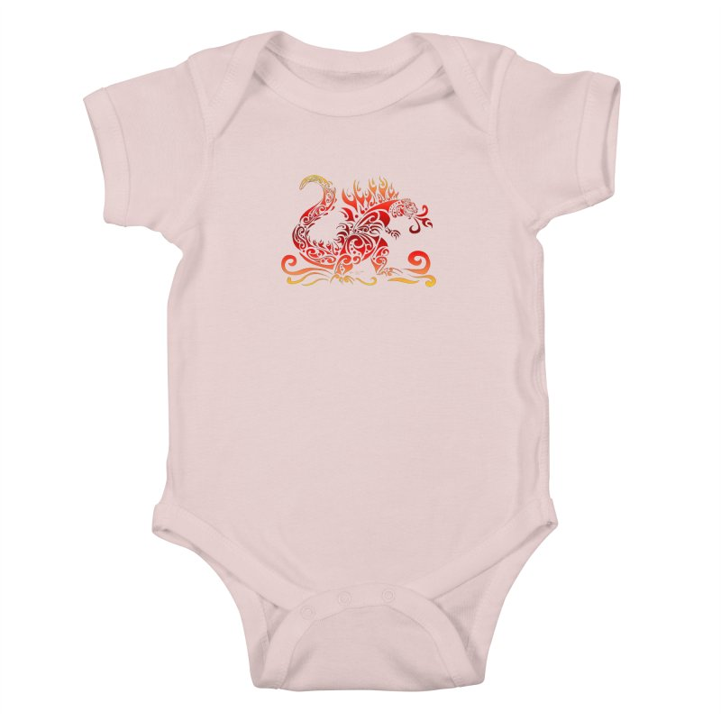 Trybe-Zilla Fire Kids Baby Bodysuit by Magickal Vision: The Art of Jolie E. Bonnette