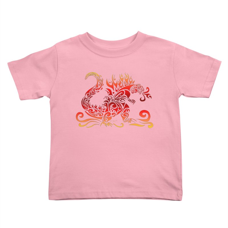 Trybe-Zilla Fire Kids Toddler T-Shirt by Magickal Vision: The Art of Jolie E. Bonnette