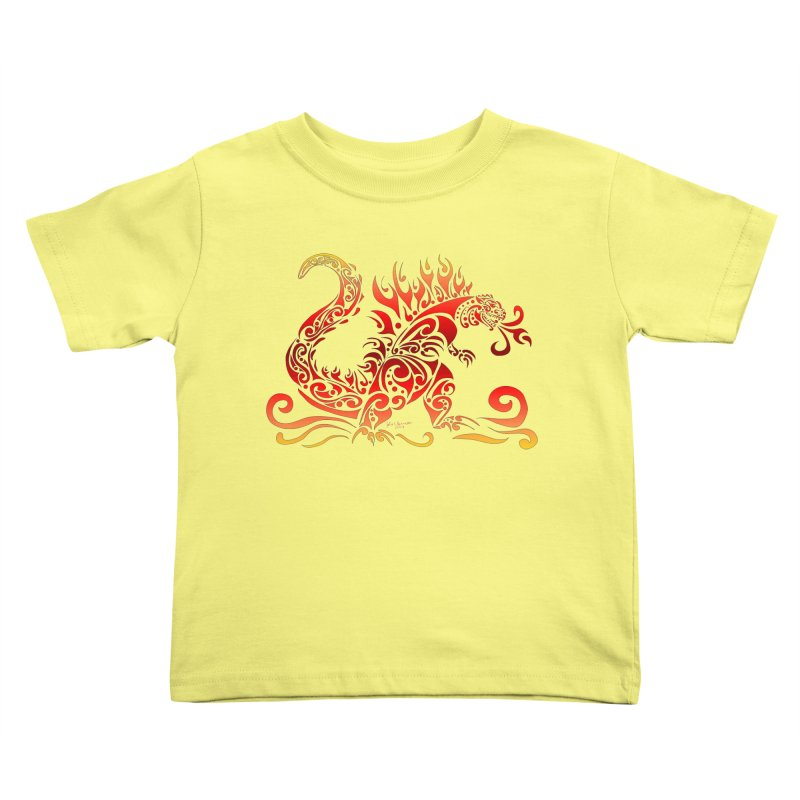 Trybe-Zilla Fire Kids Toddler T-Shirt by Magickal Vision: The Art of Jolie E. Bonnette