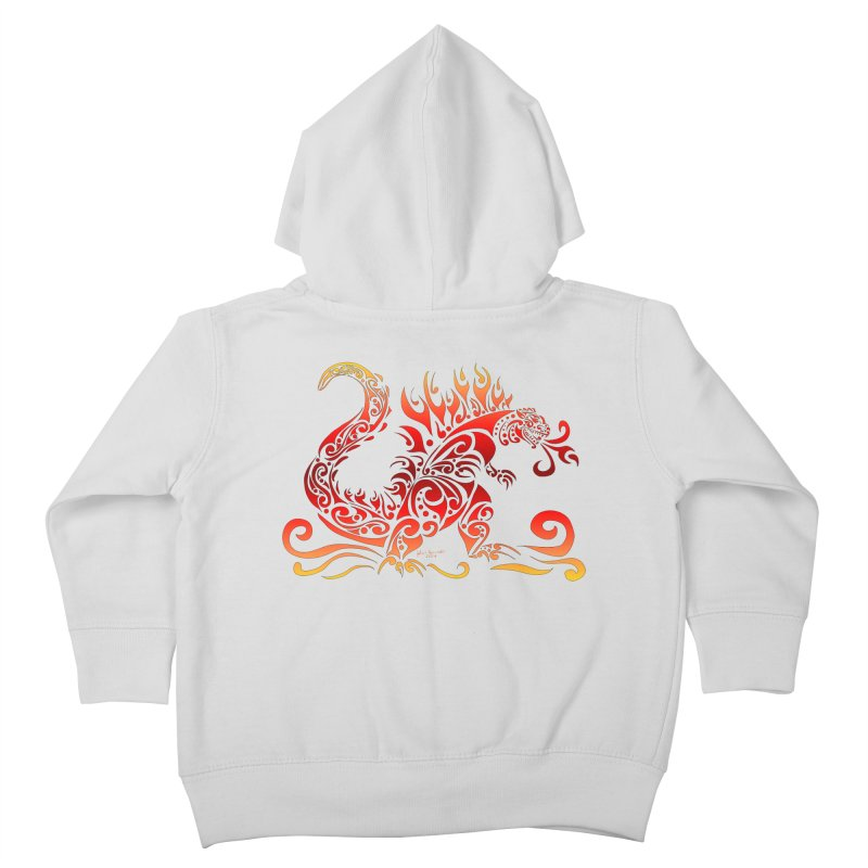 Trybe-Zilla Fire Kids Toddler Zip-Up Hoody by Magickal Vision: The Art of Jolie E. Bonnette