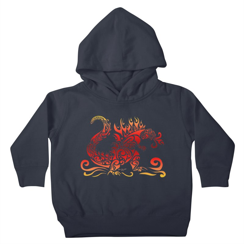 Trybe-Zilla Fire Kids Toddler Pullover Hoody by Magickal Vision: The Art of Jolie E. Bonnette