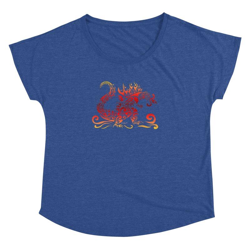 Trybe-Zilla Fire Women's Dolman Scoop Neck by Magickal Vision: The Art of Jolie E. Bonnette