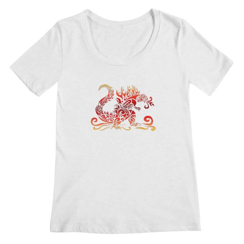 Trybe-Zilla Fire Women's Regular Scoop Neck by Magickal Vision: The Art of Jolie E. Bonnette