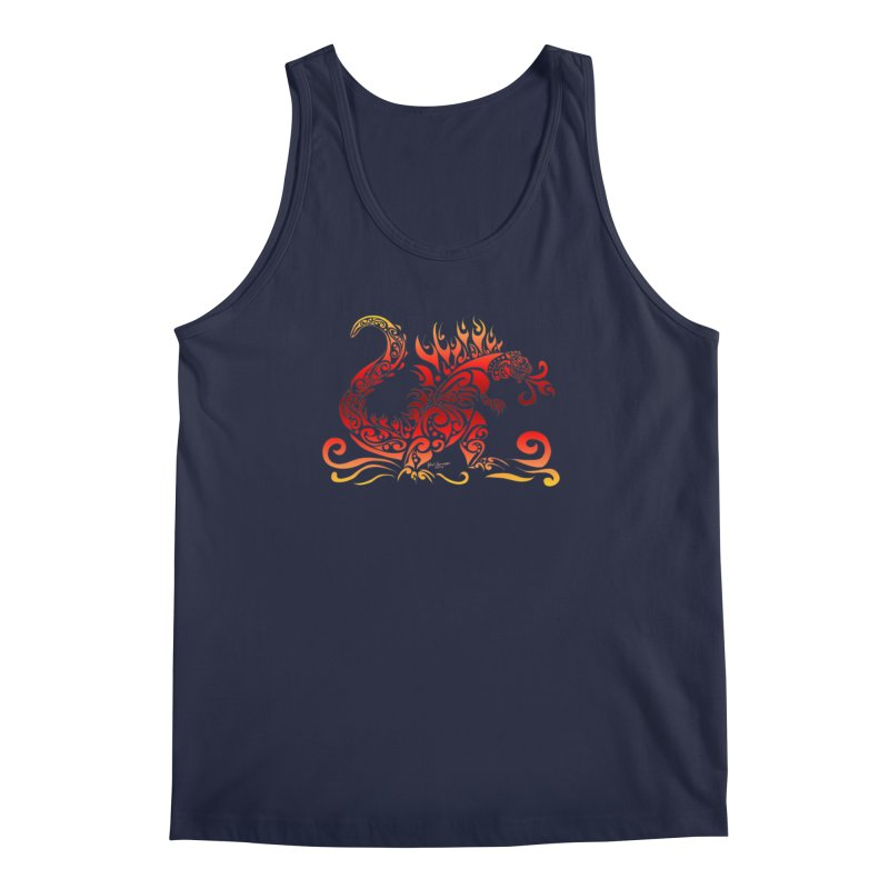 Trybe-Zilla Fire Men's Regular Tank by Magickal Vision: The Art of Jolie E. Bonnette