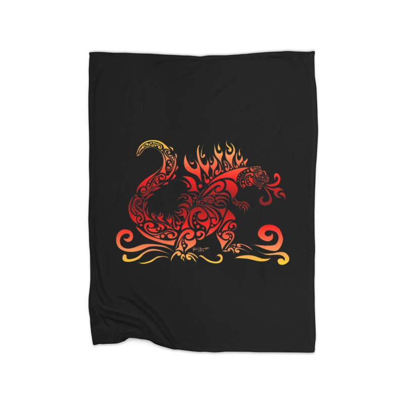 Trybe-Zilla Fire Home Blanket by Magickal Vision: The Art of Jolie E. Bonnette