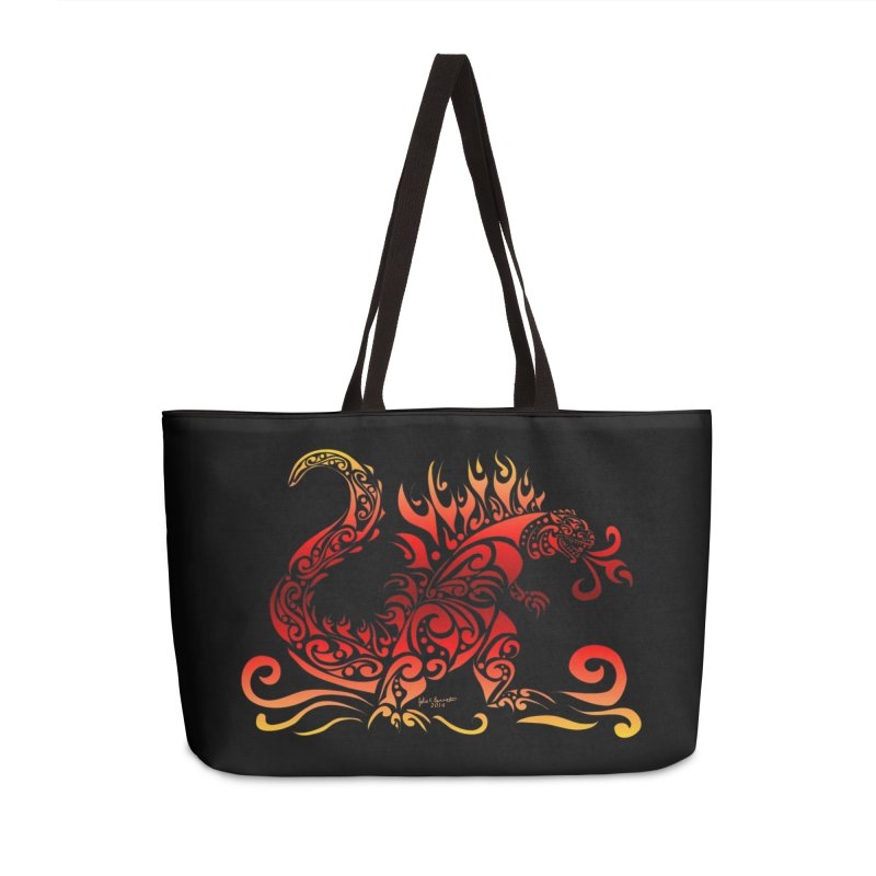 Trybe-Zilla Fire Accessories Weekender Bag Bag by Magickal Vision: The Art of Jolie E. Bonnette