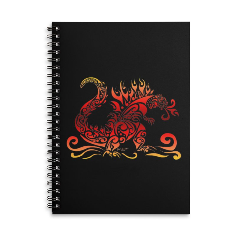 Trybe-Zilla Fire Accessories Lined Spiral Notebook by Magickal Vision: The Art of Jolie E. Bonnette