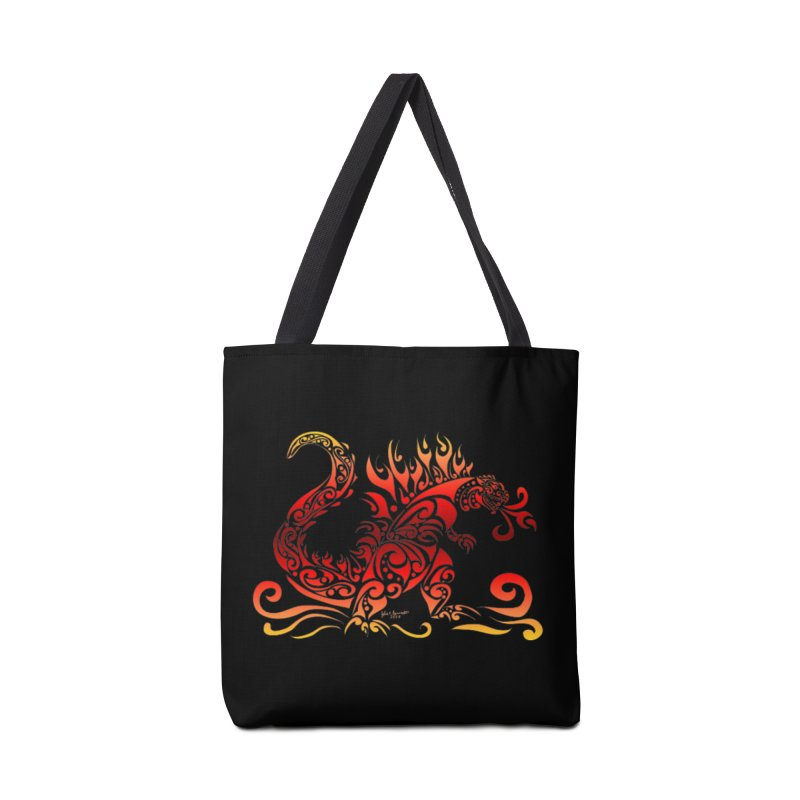 Trybe-Zilla Fire Accessories Bag by Magickal Vision: The Art of Jolie E. Bonnette