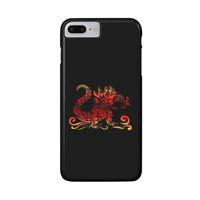 Trybe-Zilla Fire Accessories Phone Case by Magickal Vision: The Art of Jolie E. Bonnette