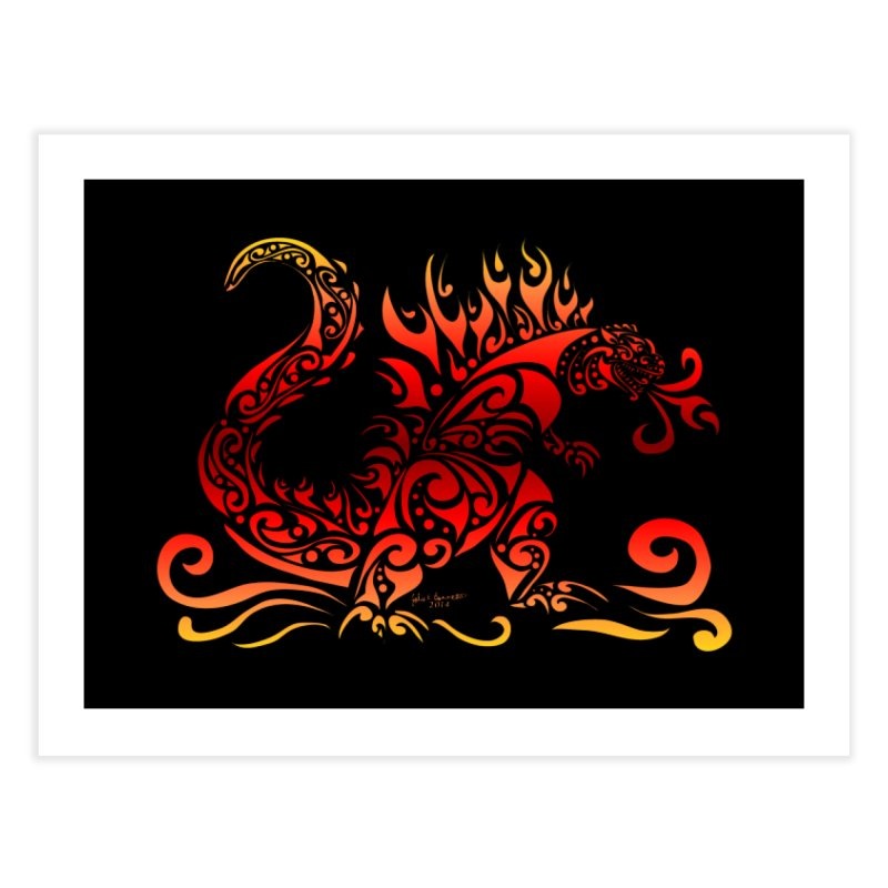 Trybe-Zilla Fire Home Fine Art Print by Magickal Vision: The Art of Jolie E. Bonnette