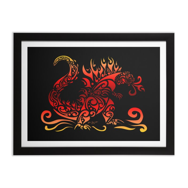 Trybe-Zilla Fire Home Framed Fine Art Print by Magickal Vision: The Art of Jolie E. Bonnette