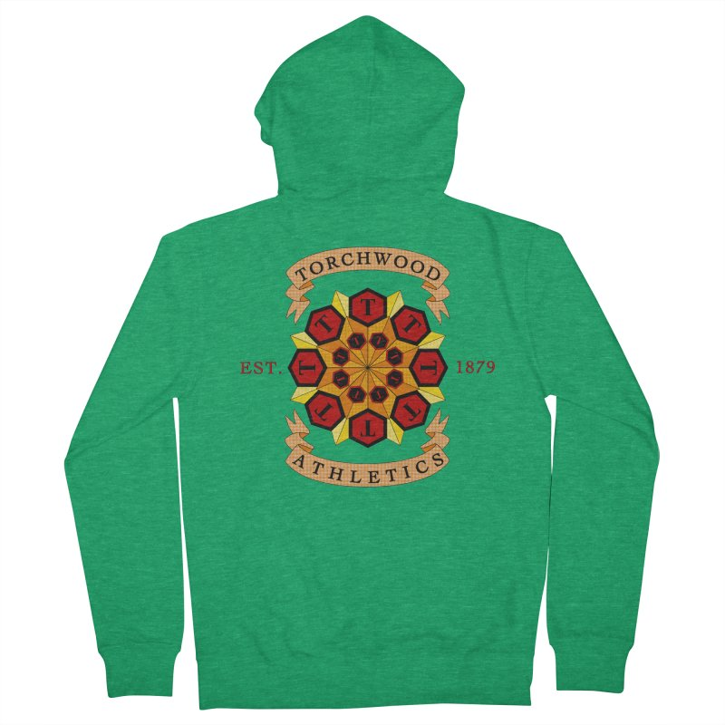 Torchwood Athletics Men's French Terry Zip-Up Hoody by Magickal Vision: The Art of Jolie E. Bonnette