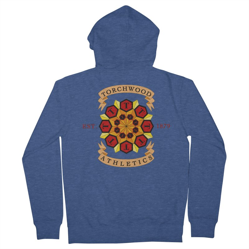 Torchwood Athletics Men's Zip-Up Hoody by Magickal Vision: The Art of Jolie E. Bonnette