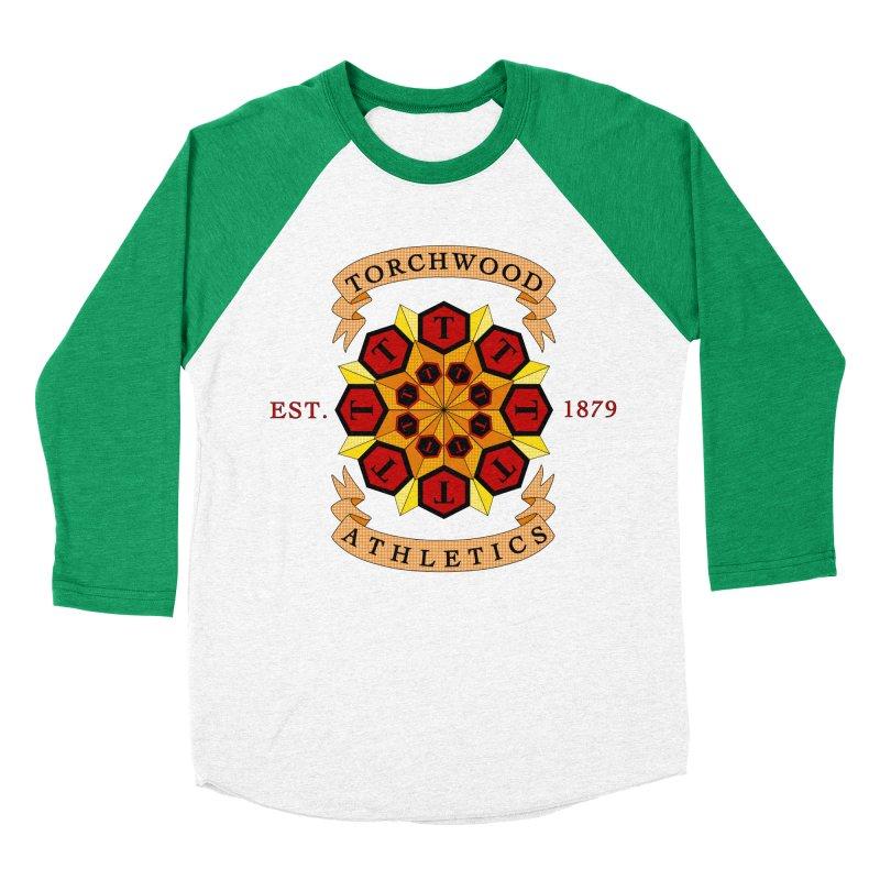 Torchwood Athletics Women's Baseball Triblend Longsleeve T-Shirt by Magickal Vision: The Art of Jolie E. Bonnette